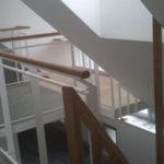 Holzstiege und Dachausbau